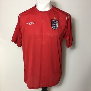 England soccer jersey Large Mens Shirt Athletic